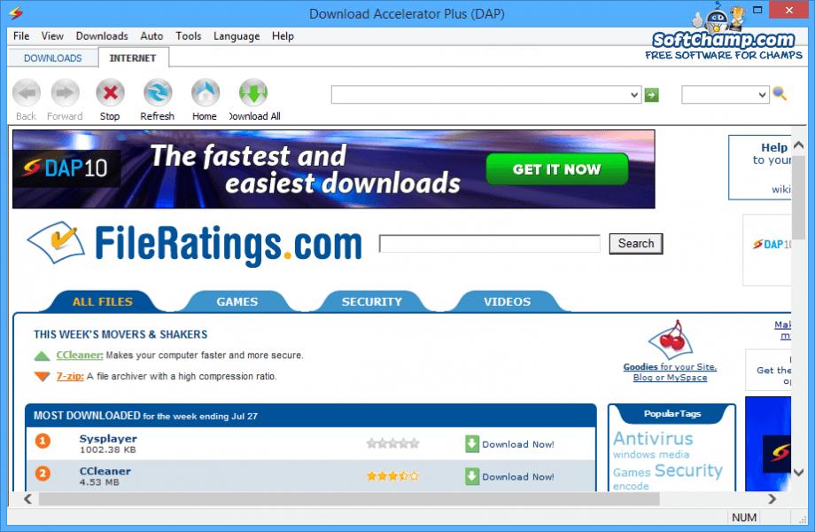 Pagina oficial de download accelerator plus