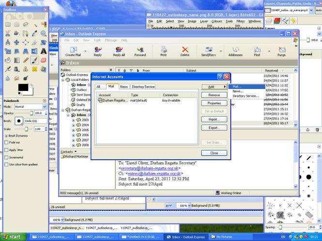 Outlook Express screenshot 1