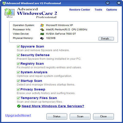 Advanced SystemCare Pro screenshot 1