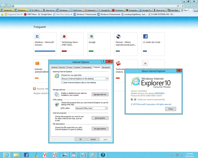 Internet Explorer 10 screenshot 1