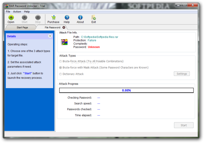 RAR Password Unlocker screenshot 1