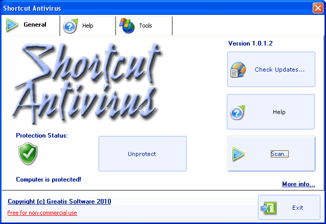 Shortcut Antivirus screenshot 1