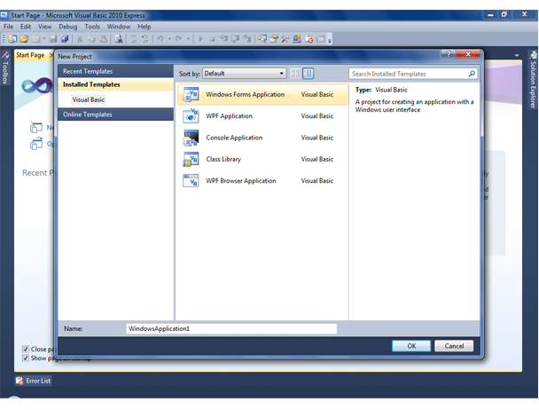 Visual Basic screenshot 1