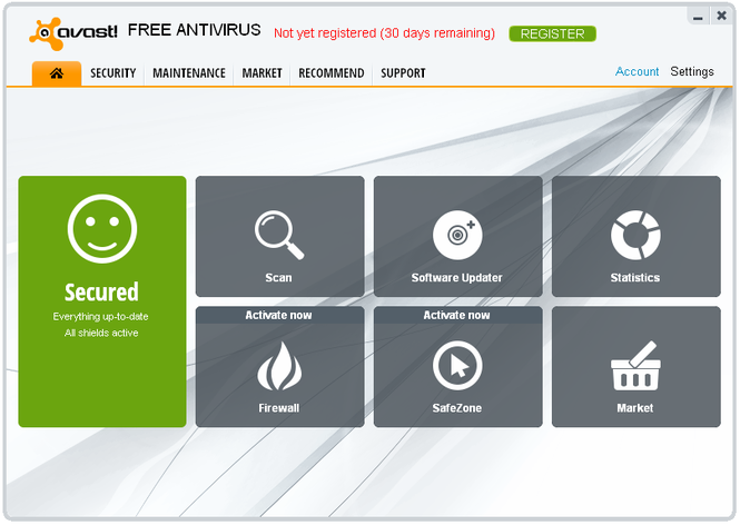 avast! Free Antivirus screenshot 1