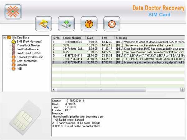 Data Doctor Recovery Mobile SIM Card screenshot 1