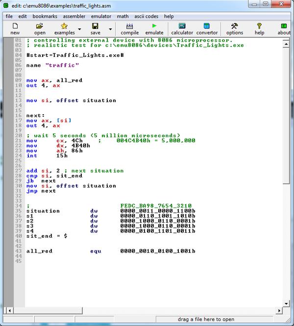 EMU8086 screenshot 1