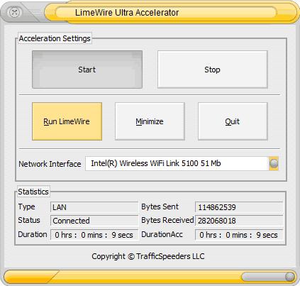 LimeWire Ultra Accelerator screenshot 2