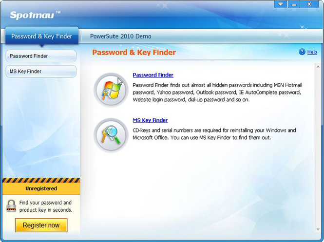Spotmau Password & Key Finder screenshot 1