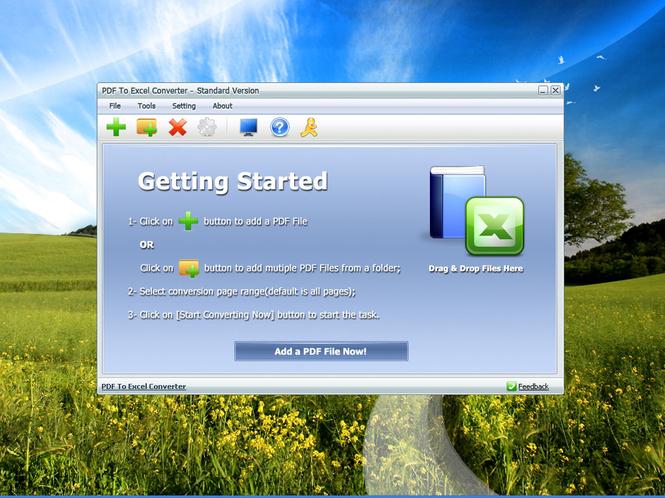 PDF To Excel Converter screenshot 1