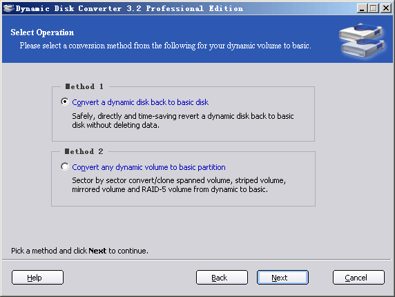 Dynamic Disk Converter screenshot 1