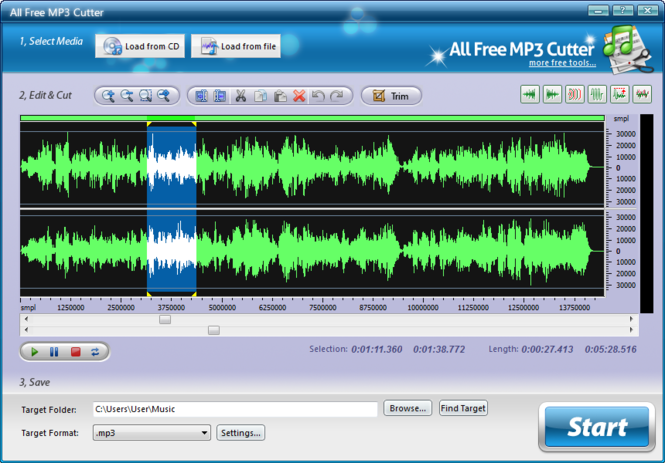 mp3 cutter for free  full version