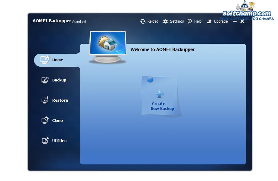 AOMEI Backupper Standart Create a backup