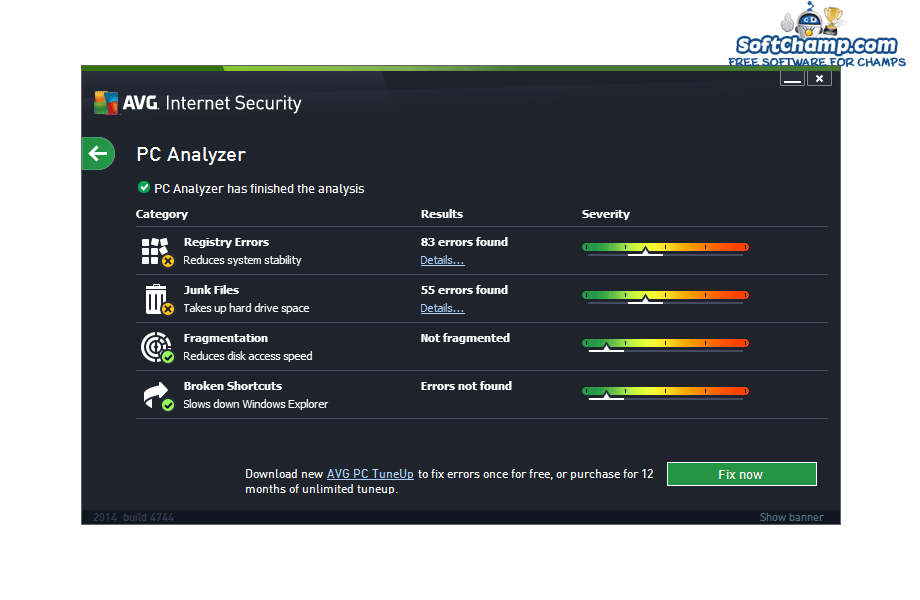 AVG Internet Security PC Analyzer
