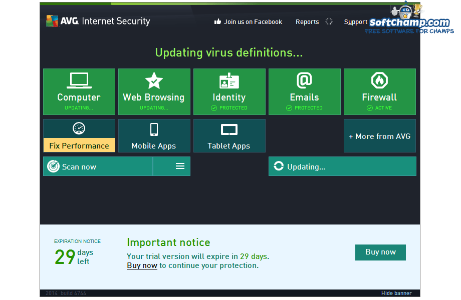 Download AVG Internet Security 2015.0.5941 | review SoftChamp.com