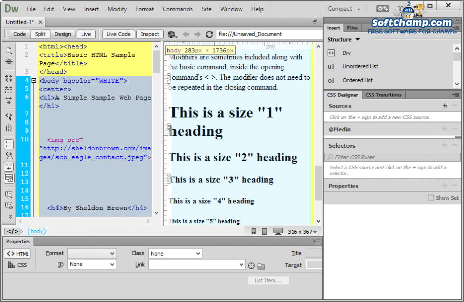 Adobe Dreamweaver Inspect