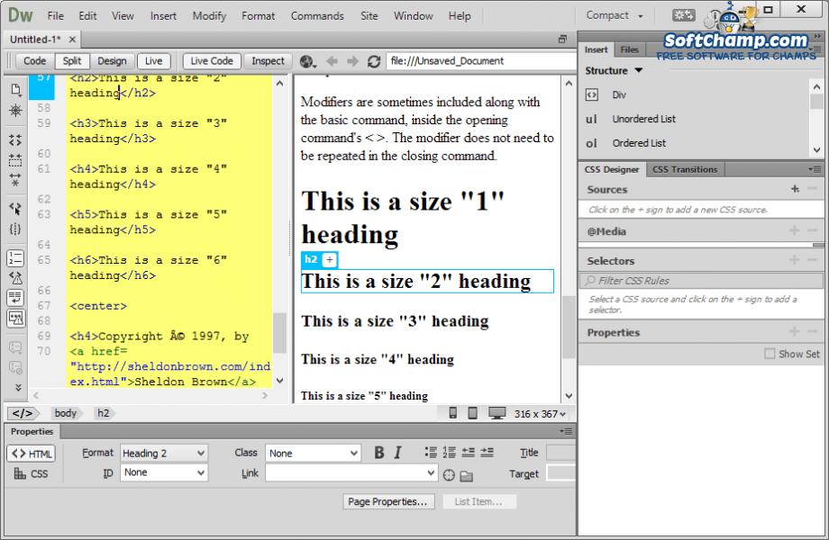 Adobe Dreamweaver Live Code
