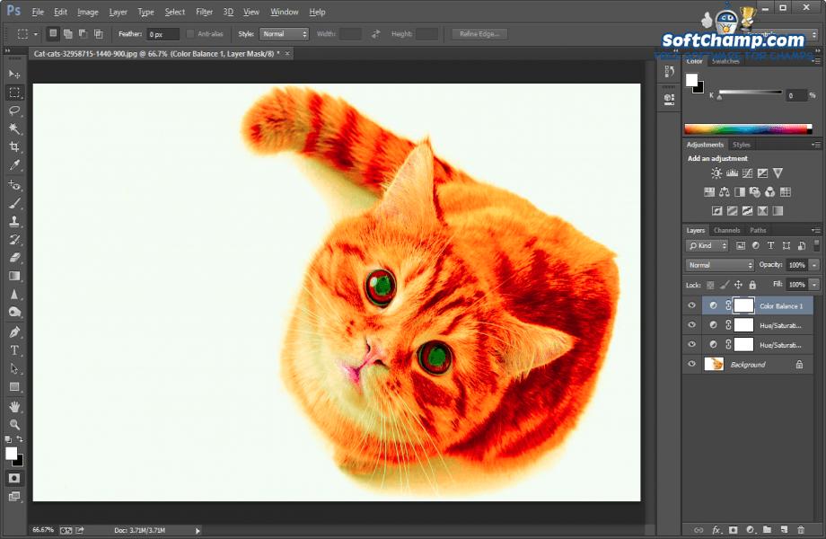 Adobe Photoshop Color Saturation