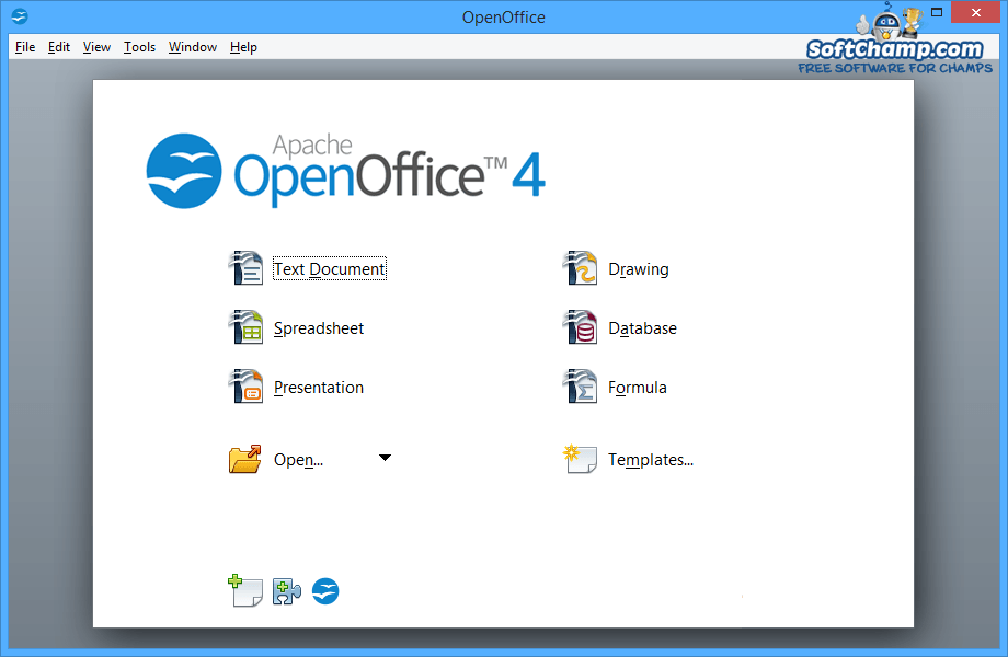 Apache OpenOffice Create a new file