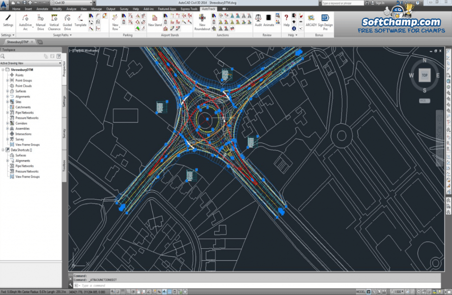 AutoCAD Active Drawing View
