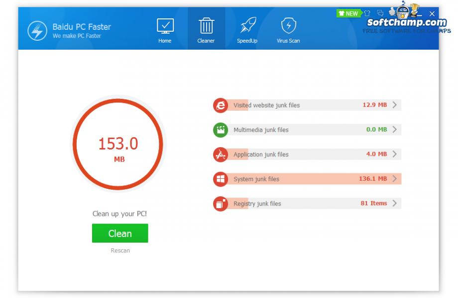 Baidu PC Faster Clean PC