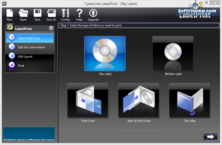 CyberLink LabelPrint Disc Label