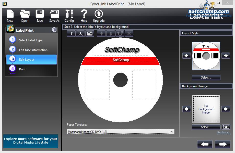 CyberLink LabelPrint Disc Layout Design