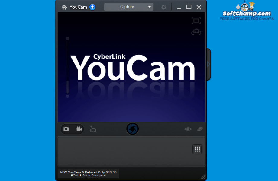 CyberLink YouCam Landing screen