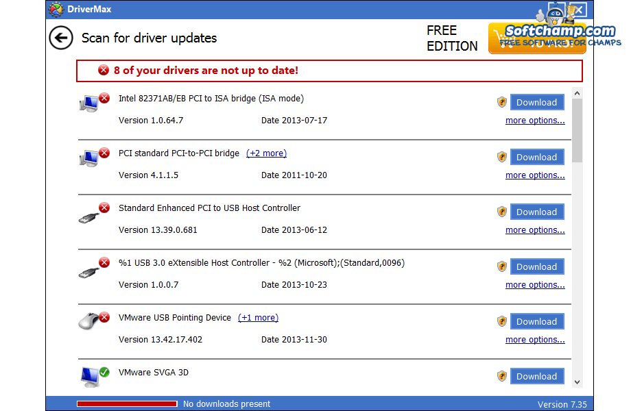 DriverMax Scan for driver updates