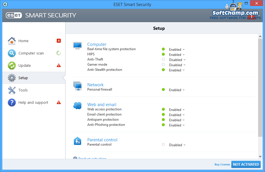 ESET Smart Security Setup