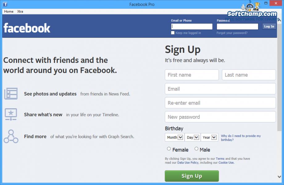 Facebook Pro Sign up