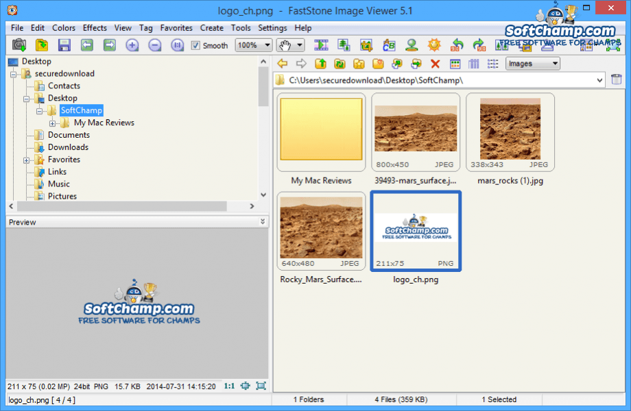 FastStone Image Viewer Folder Tree