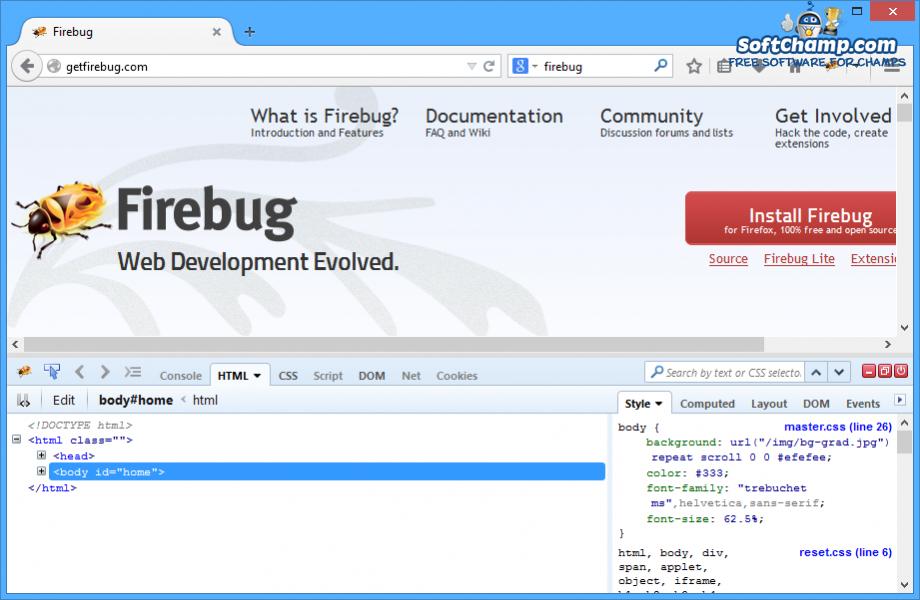 Firebug HTML