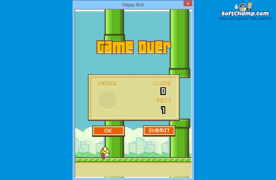Flappy Bird Game Over Score
