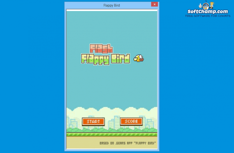 Flappy Bird Start Screen