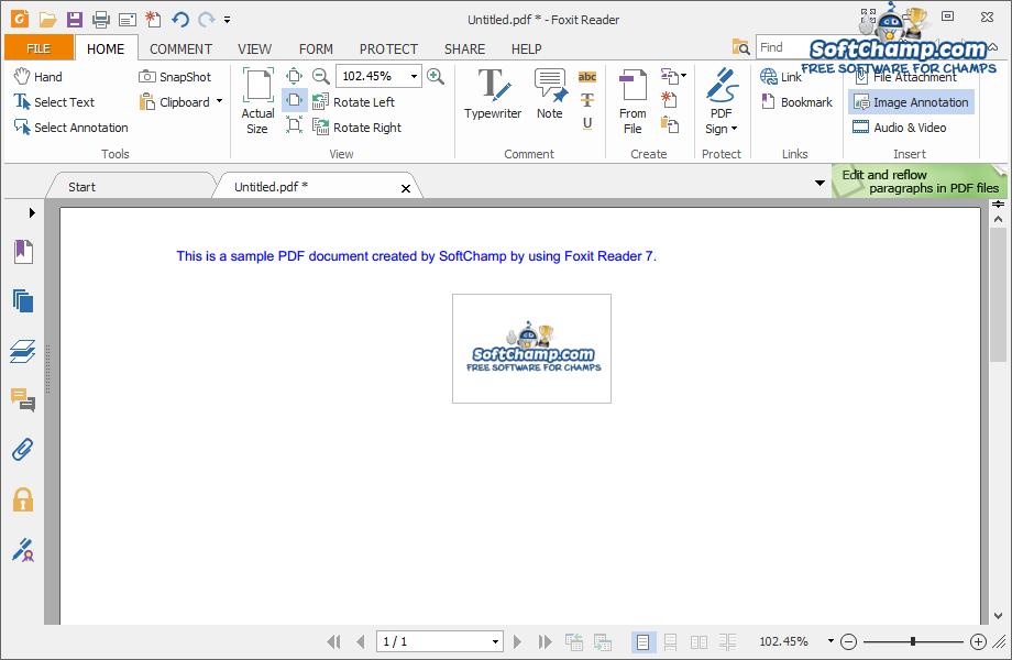 Foxit Reader 7 Create PDF