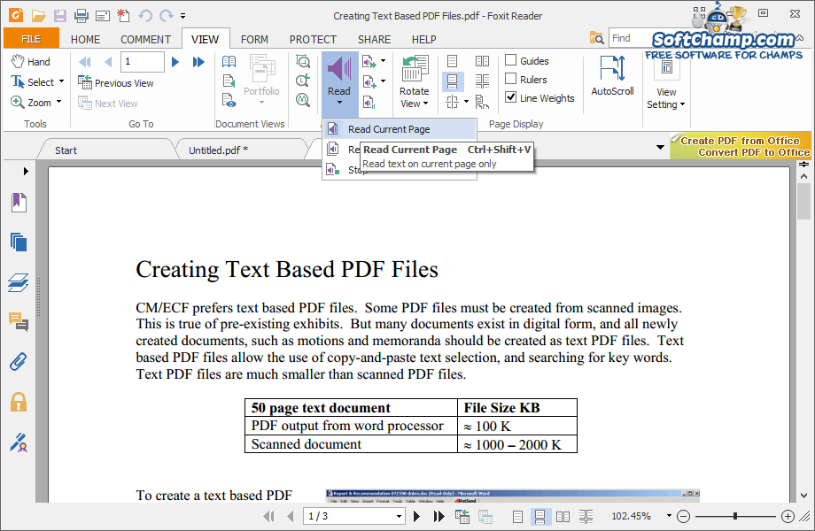 Foxit Reader 7 Read Document