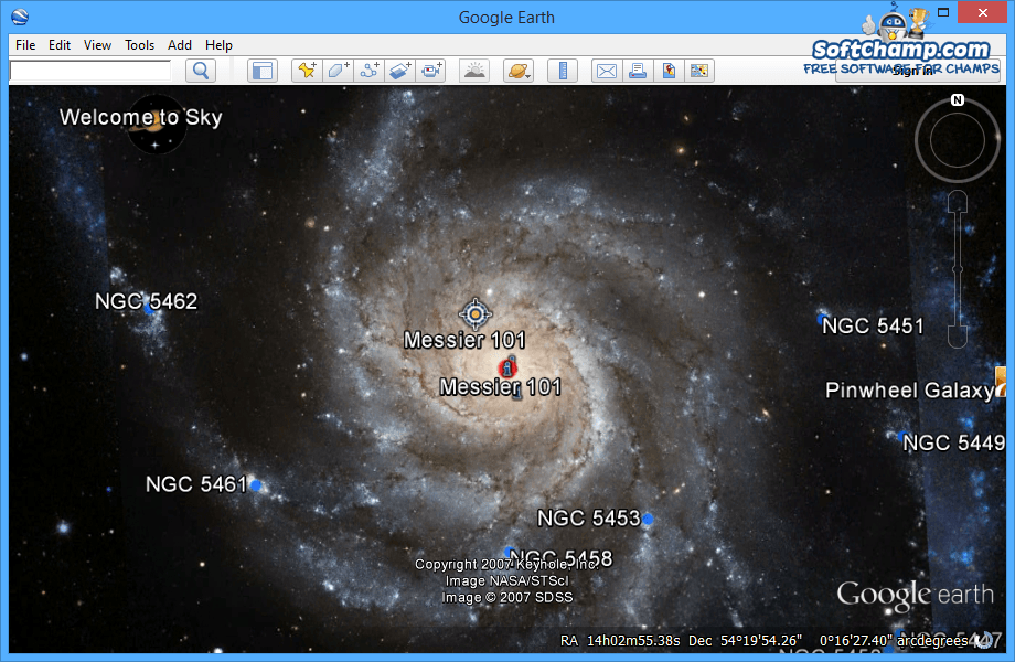 Google Earth Universe View