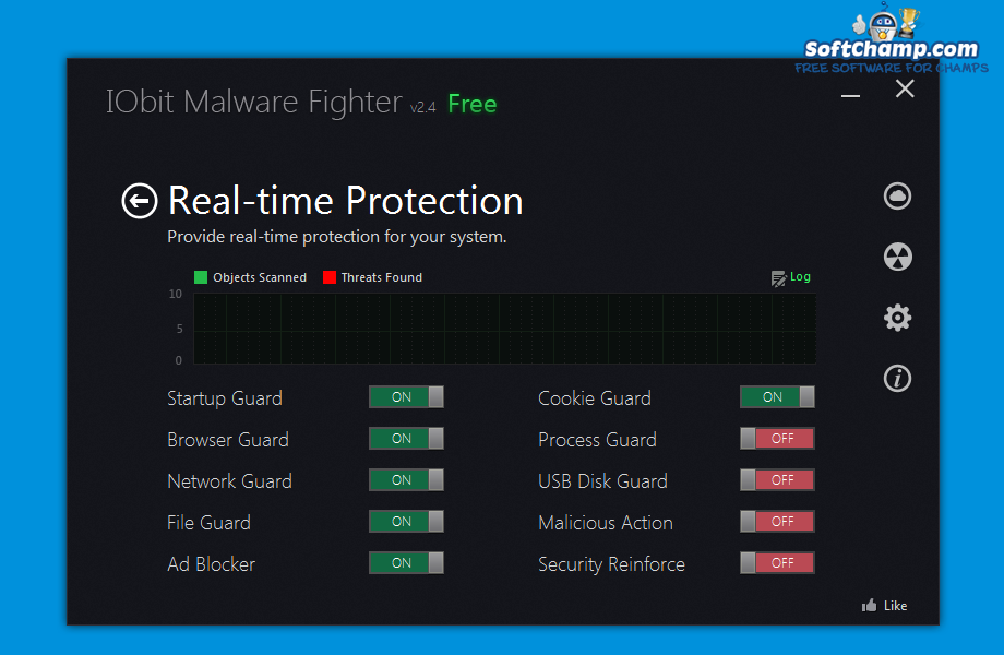IObit Malware Fighter Action Center