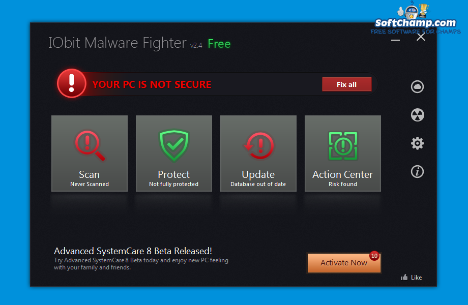 IObit Malware Fighter System Security Status