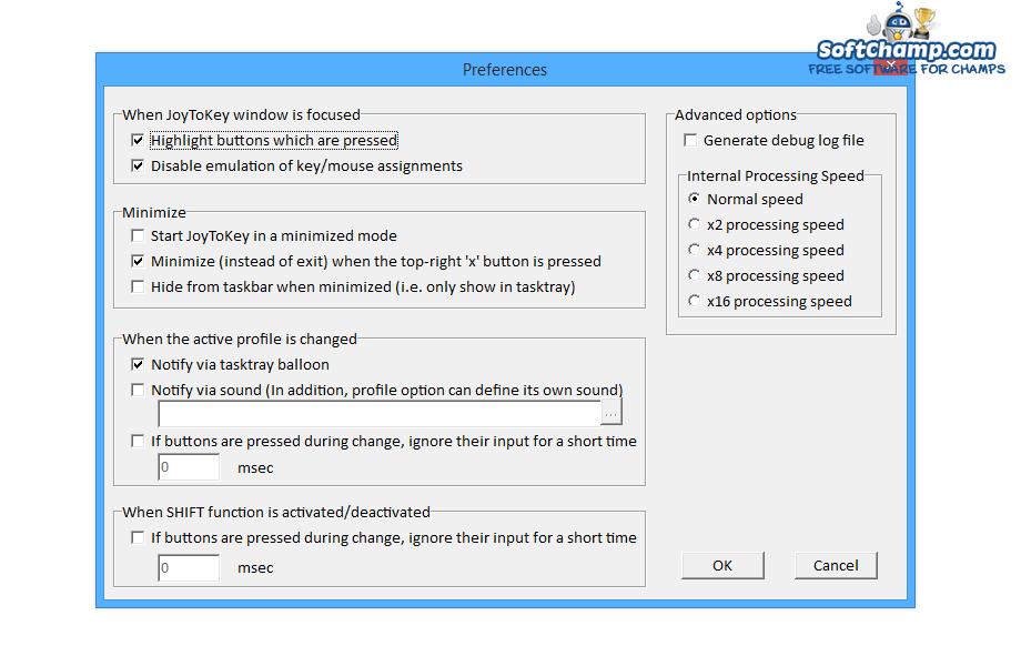 JoyToKey Preferences