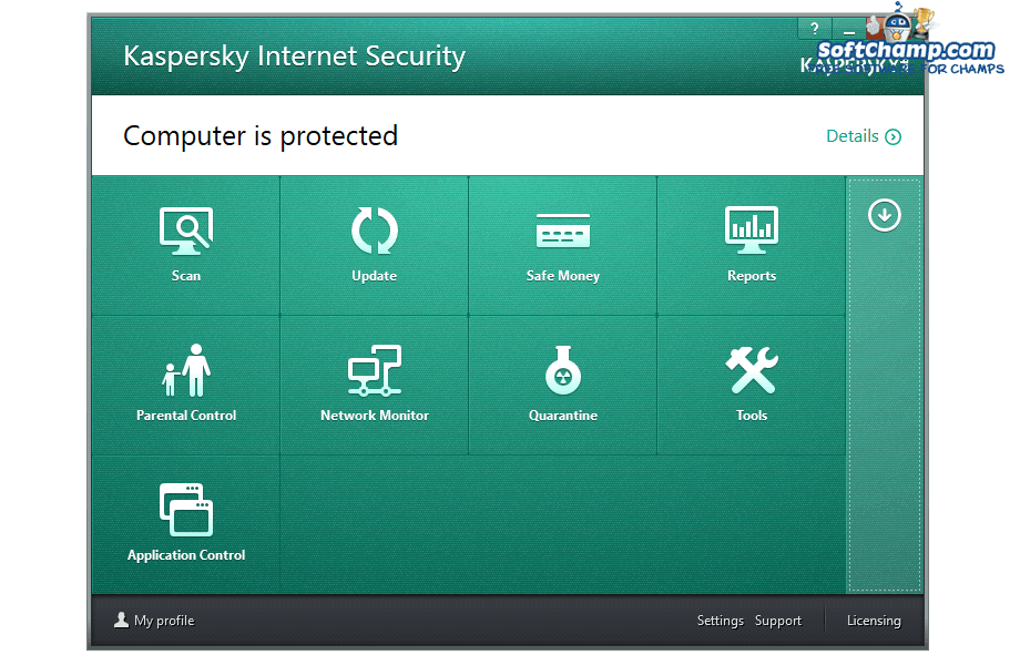 Kaspersky Internet Security Security Utilities