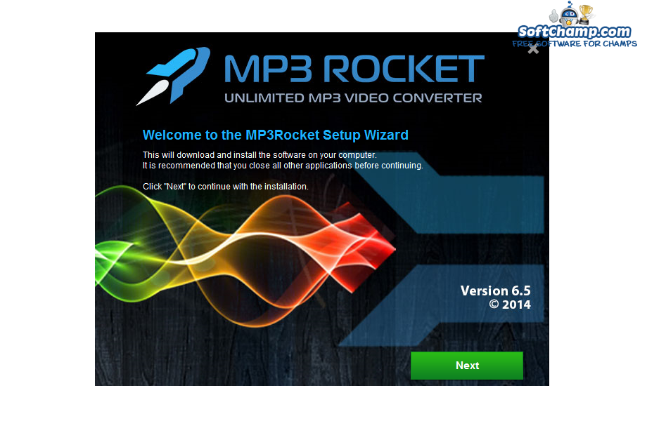MP3 Rocket Setup Wizard