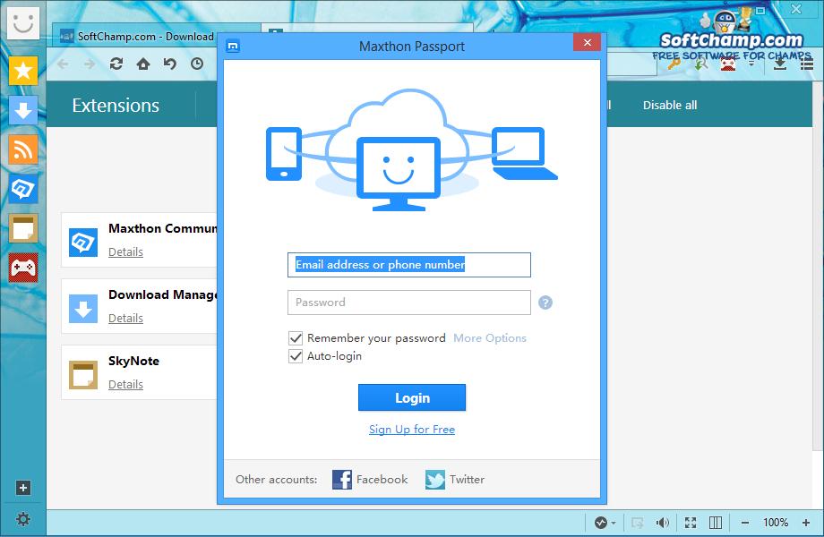 Maxthon Cloud Browser Cloud Logi