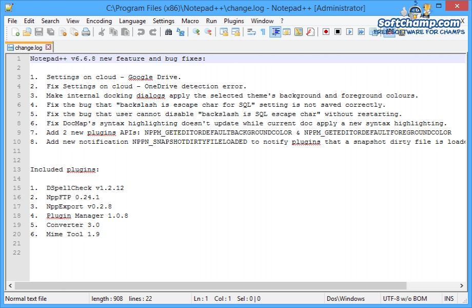 Notepad++ Editor