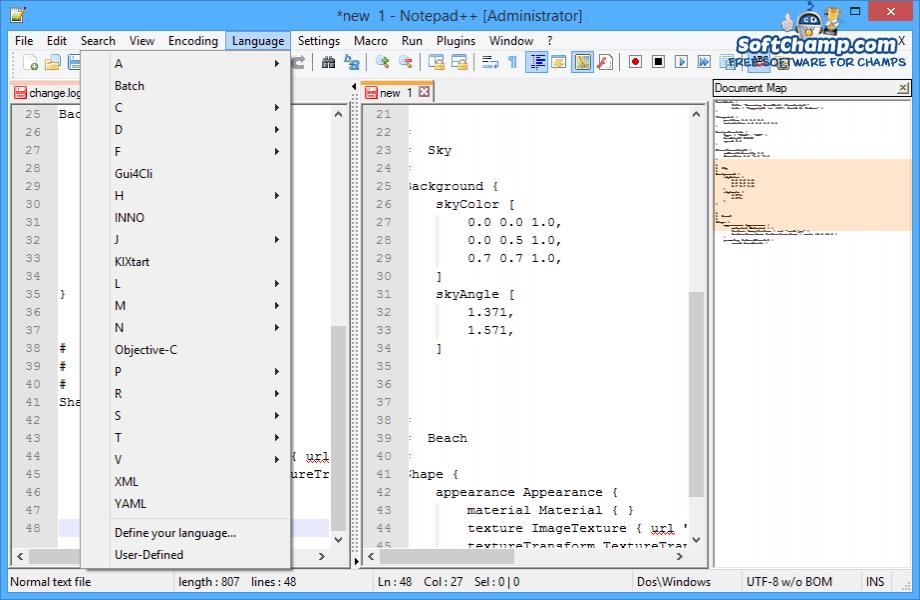 Notepad++ Programming Languages