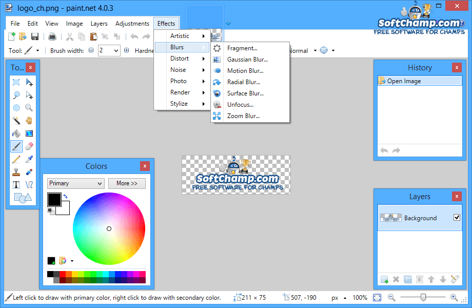PaintNET Image Effects