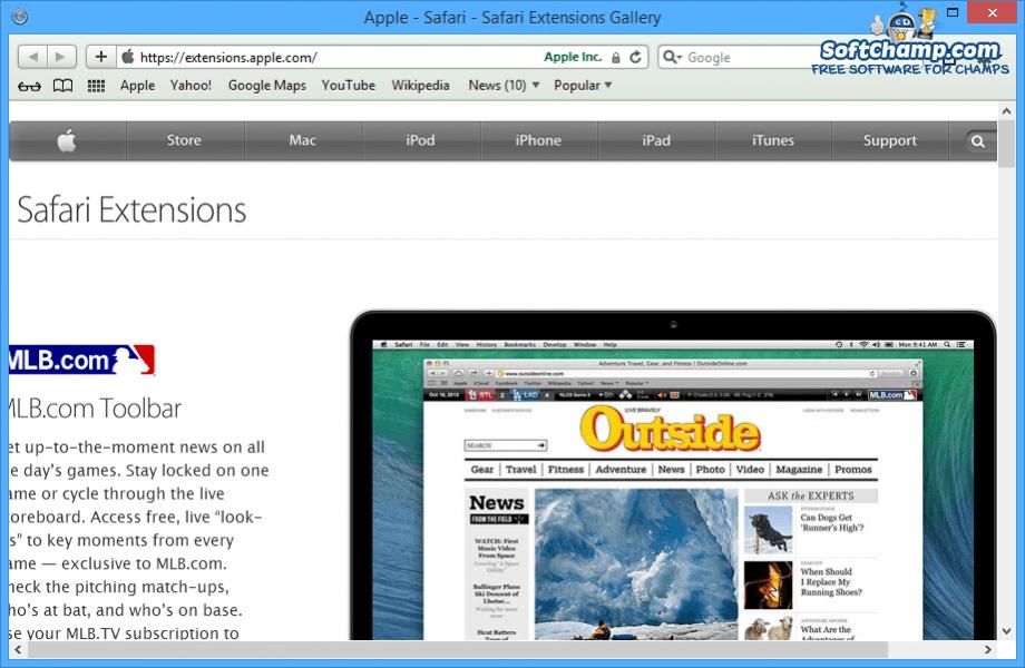 Safari Extensions Gallery