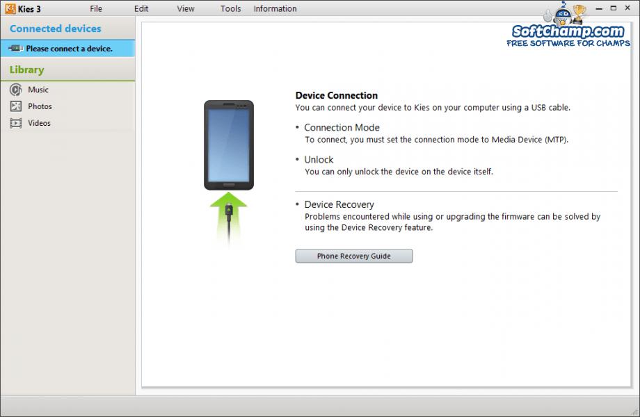 Samsung Kies 3 Device Connection