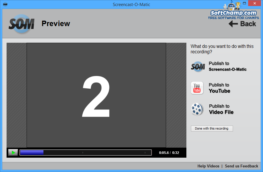 how to download video from screen cast