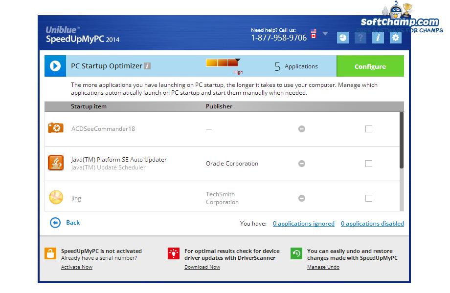 SpeedUpMyPC PC Startup Optimizer